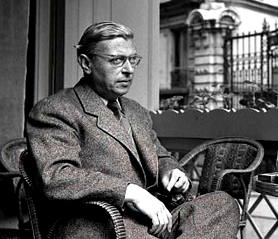 Jean-Paul Sartre, looking for the exit. (Spoiler: there is no exit.)