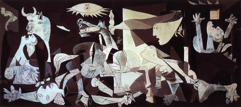 Pablo Picasso's Guernica is a classic painting - one of the most critically loved ones of all time. It was made one brushstroke at a time.