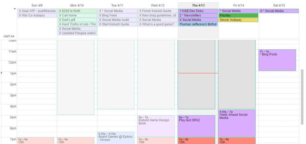 Calendar Before