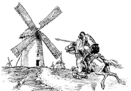 Don Quixote Going for a Windmill