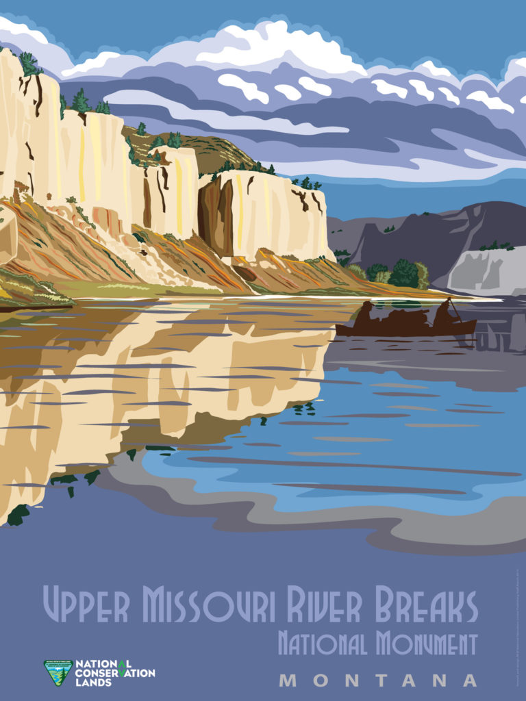 Upper Missouri River Breaks Monument Postcard