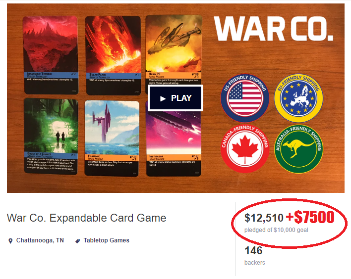 Real Cost of War Co Kickstarter