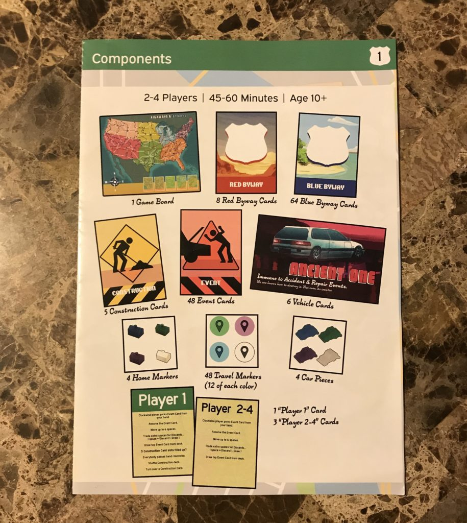 Highways and Byways rule book
