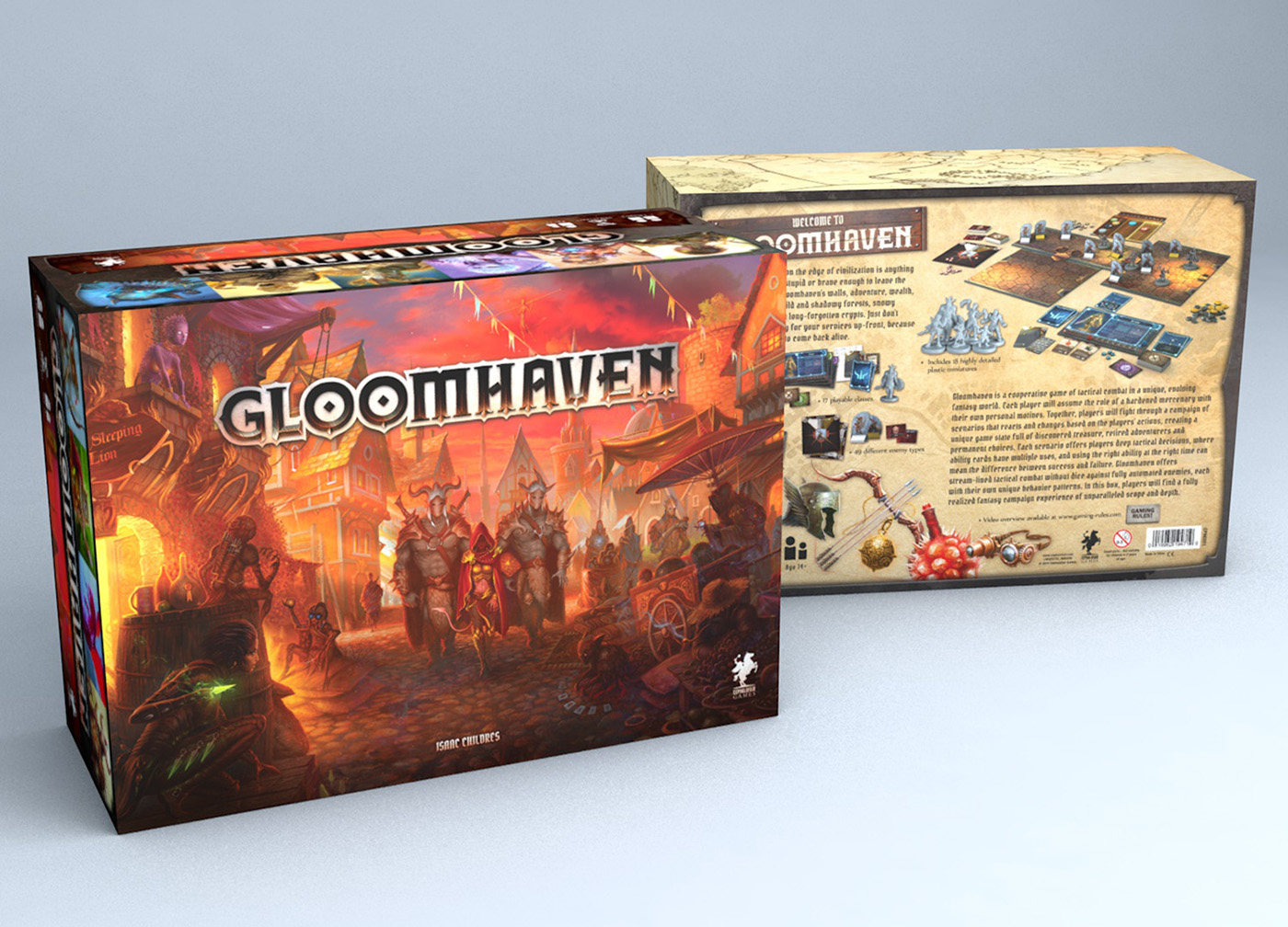 board game box - gloomhaven
