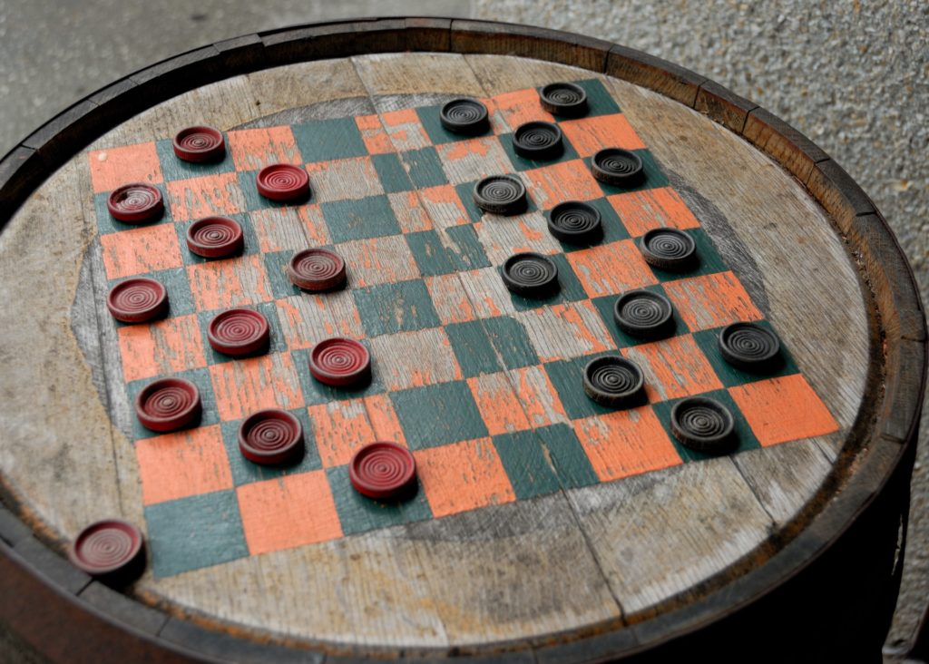 popular board game - checkers